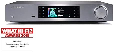 Network Audio Player with Chromecast built-in Spotify Connect Silver V2 Cambridge Audio CXN TIDAL Roon Tested AirPlay 2
